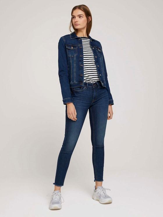Jona Extra Skinny Jeans - Frauen - Used Mid Stone Blue Denim - 3 - TOM TAILOR Denim
