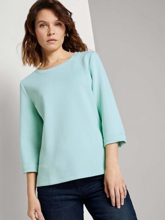 Basic Sweatshirt - Frauen - minty green - 5 - TOM TAILOR