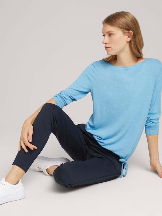 Gestreiftes Langarmshirt - Frauen - Clear Light Blue Melange - 5 - TOM TAILOR