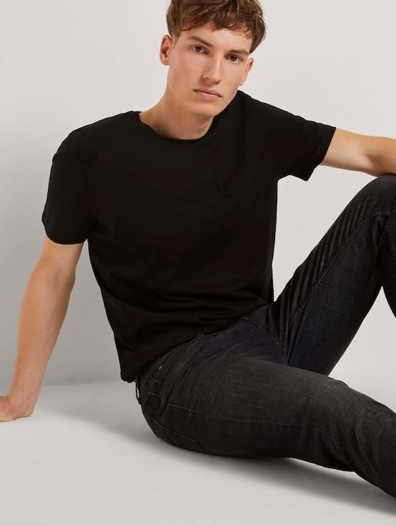 Basic Tshirt - Männer - Black - 5 - TOM TAILOR Denim
