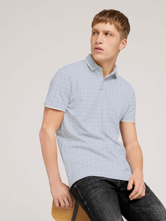 gemustertes Poloshirt - Männer - grey regular dot print - 5 - TOM TAILOR Denim