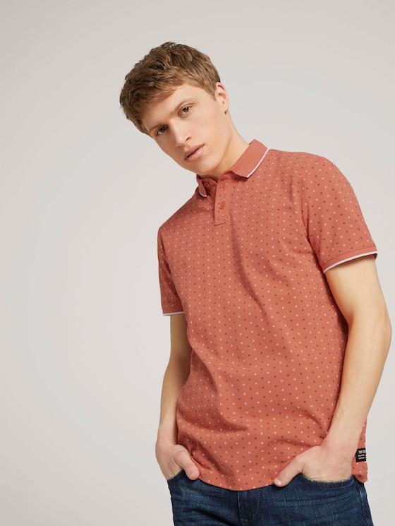 gemustertes Poloshirt - Männer - red regular dot print - 5 - TOM TAILOR Denim