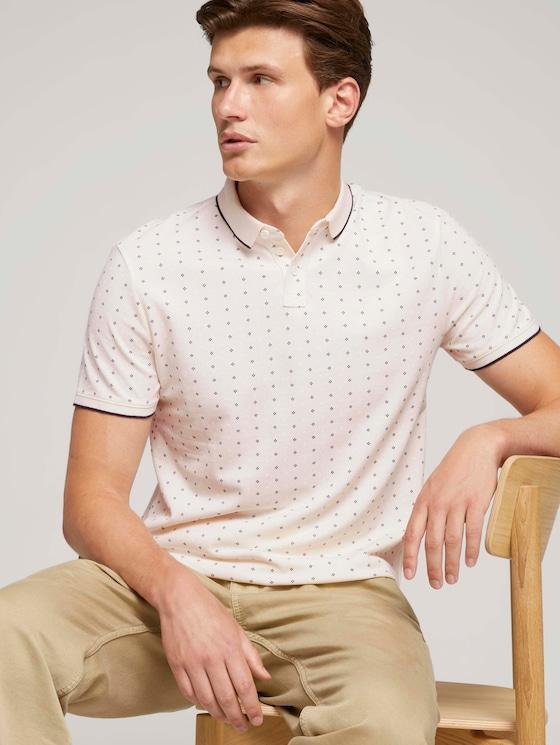gemustertes Poloshirt - Männer - light beige regular dot print - 5 - TOM TAILOR Denim