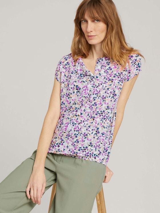 Gemusterte Bluse mit LENZING™ ECOVERO™ - Frauen - offwhite-floral-design - 5 - TOM TAILOR