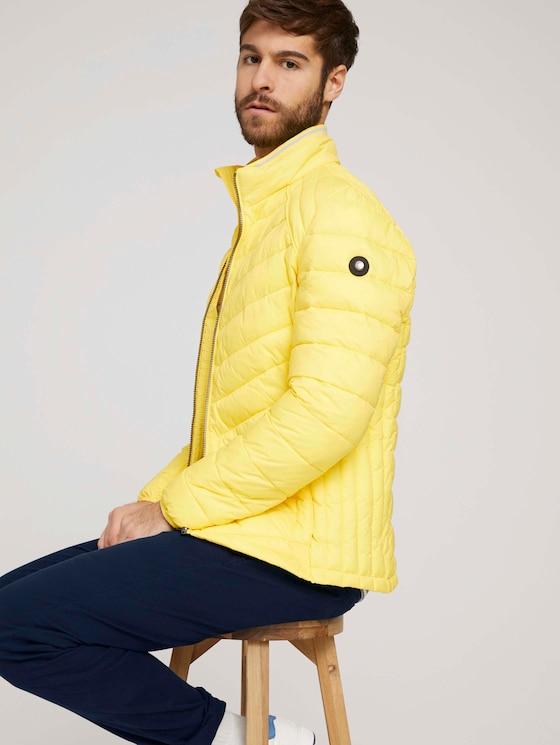 Lightweight Steppjacke mit Stehkragen - Männer - celandine yellow - 5 - TOM TAILOR