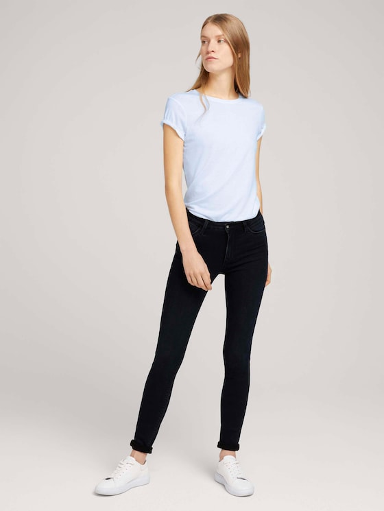Kate Skinny Jeans mit Bio-Baumwolle - Frauen - dark stone blue black denim - 3 - TOM TAILOR