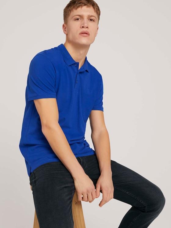 Basic Poloshirt - Männer - Shiny Royal - 5 - TOM TAILOR Denim