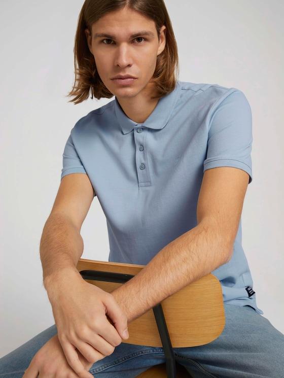 Basic Poloshirt - Männer - Foggy Blue - 5 - TOM TAILOR Denim