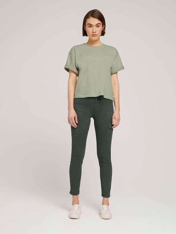 Nela Extra Skinny Cargohose - Frauen - dusty pine green - 3 - TOM TAILOR Denim