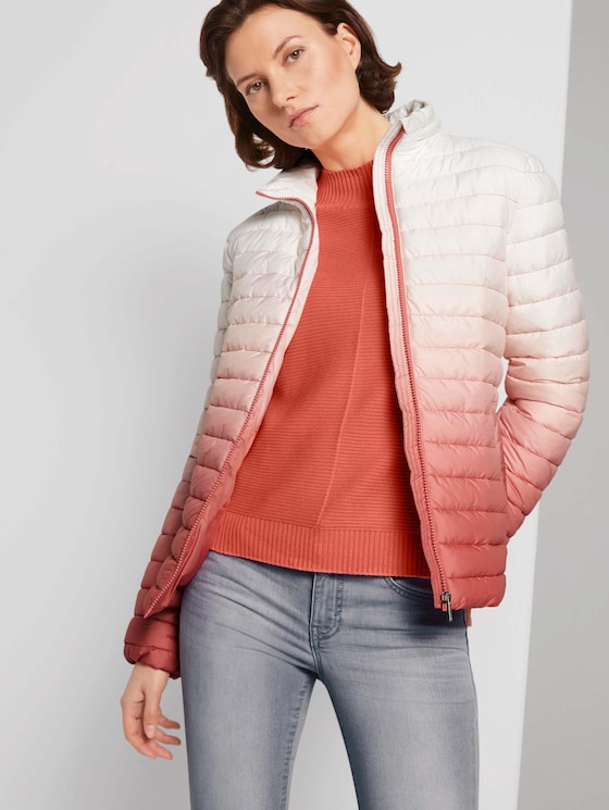 Lightweight Steppjacke mit Farbverlauf - Frauen - Smooth Papaya Red - 5 - TOM TAILOR