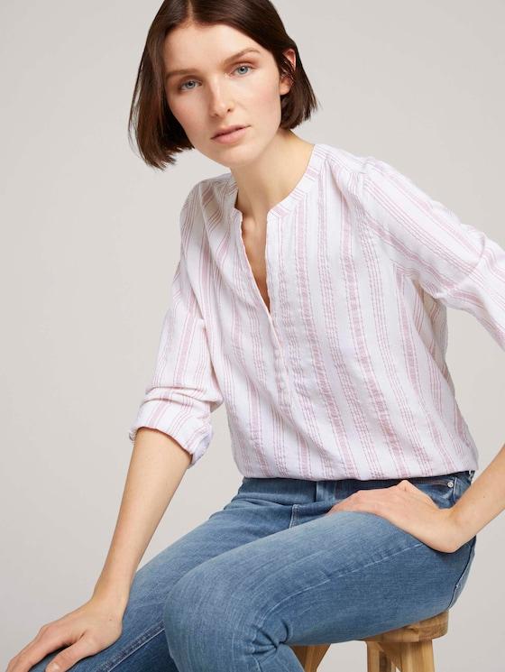 Gestreifte Tunika mit Bio-Baumwolle - Frauen - white rose vertical stripe - 5 - TOM TAILOR Denim