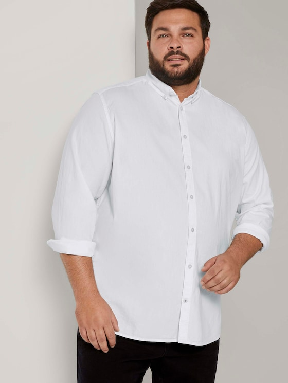Basic Oxford Hemd - Männer - White - 5 - Men Plus