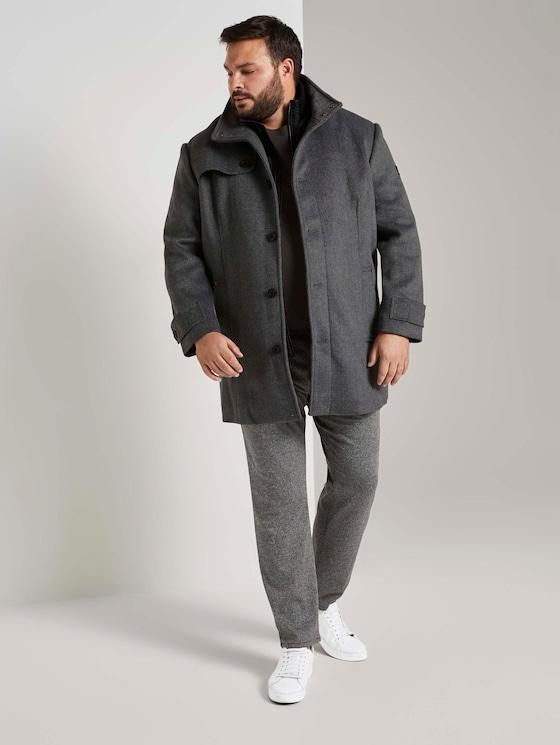Slim Fit Hose im Hahnentrittmuster - Männer - grey houndstooth - 3 - Men Plus