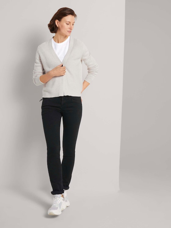 Alexa Slim Stretch Jeans mit Bio-Baumwolle   - Frauen - black denim - 3 - TOM TAILOR