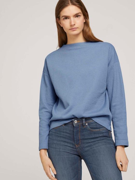 gemütlicher Pullover mit Bio-Baumwolle  - Frauen - soft mid blue - 5 - TOM TAILOR Denim
