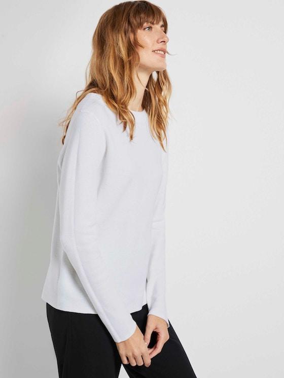 Basic Pullover mit Stehkragen - Frauen - Whisper White - 5 - TOM TAILOR
