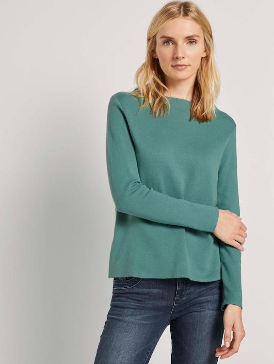 Basic Pullover mit Stehkragen - Frauen - Salvia - 5 - TOM TAILOR