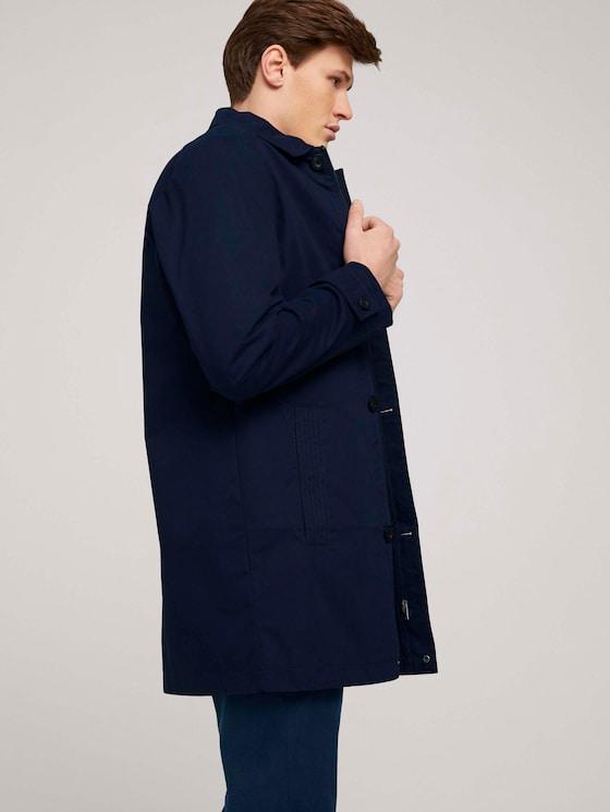 kurzer Mantel aus Twill - Männer - Sky Captain Blue - 5 - TOM TAILOR