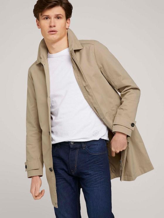 kurzer Mantel aus Twill - Männer - Beach Sand - 5 - TOM TAILOR