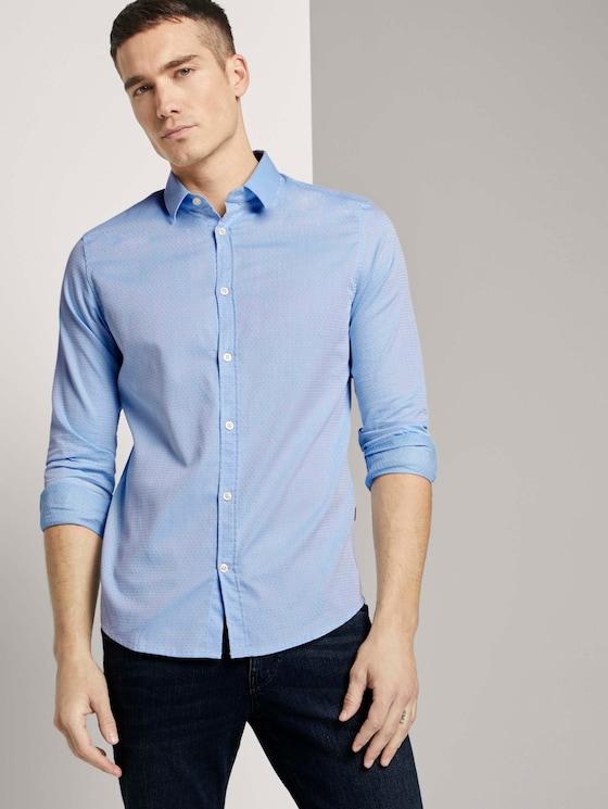 Hemd met fijn patroon - Mannen - light blue white structure - 5 - TOM TAILOR