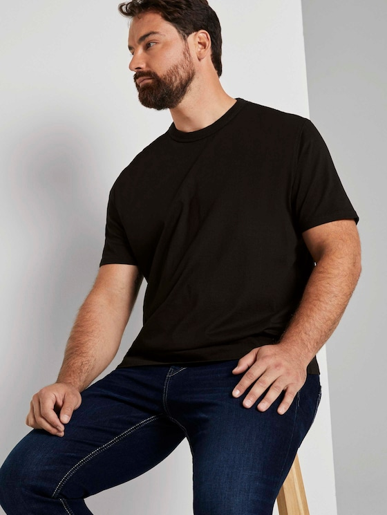 Basic T-Shirt - Männer - Black - 5 - Men Plus