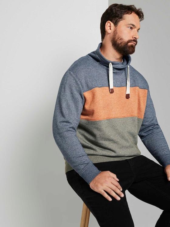 Sweatshirt mit Colour Blocking  - Männer - Olive Night Green - 5 - Men Plus