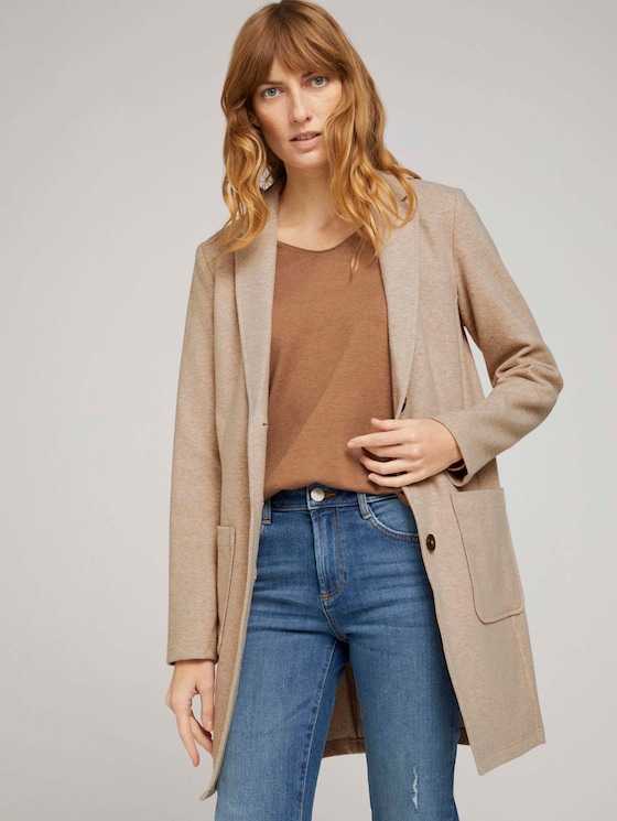 Longblazer in Melange Optik - Frauen - desert sand melange - 5 - TOM TAILOR