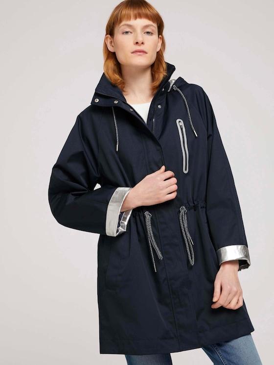 Parka met afneembare hoodie - Vrouwen - Sky Captain Blue - 5 - TOM TAILOR
