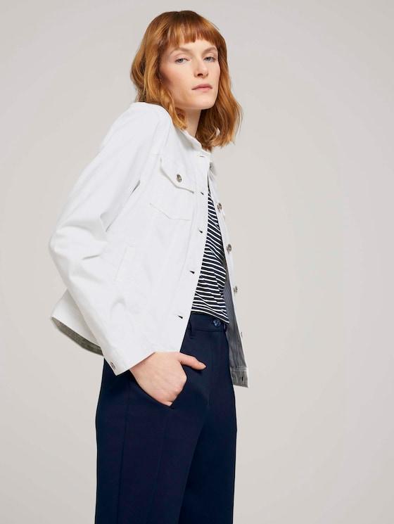 Gefärbte Jeansjacke mit Bio-Baumwolle  - Frauen - White - 5 - TOM TAILOR