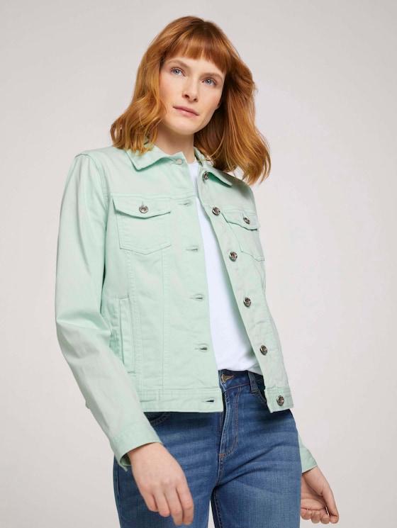 Gefärbte Jeansjacke mit Bio-Baumwolle  - Frauen - minty green - 5 - TOM TAILOR