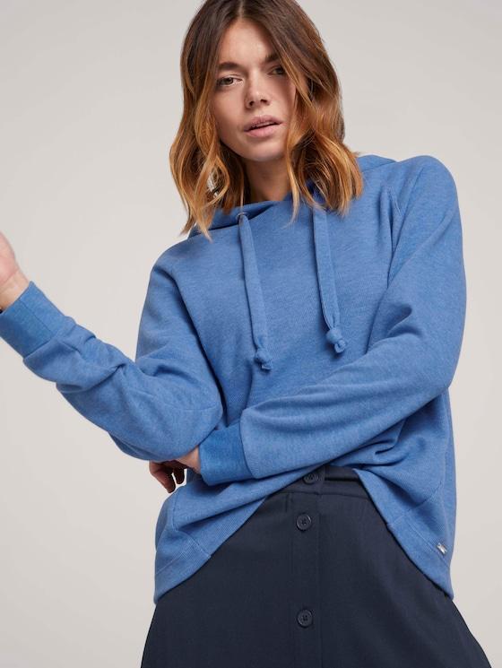 Basic Hoodie mit Nahtdetail - Frauen - mid blue - 5 - TOM TAILOR Denim