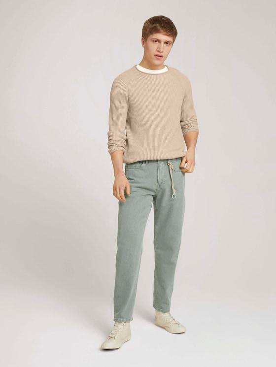 Loose Fit Jeans - Männer - Greyish Shadow Olive - 3 - TOM TAILOR Denim