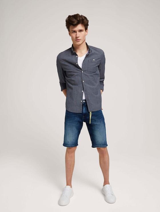 Regular Fit Jeansshorts - Männer - Used Mid Stone Blue Denim - 3 - TOM TAILOR Denim