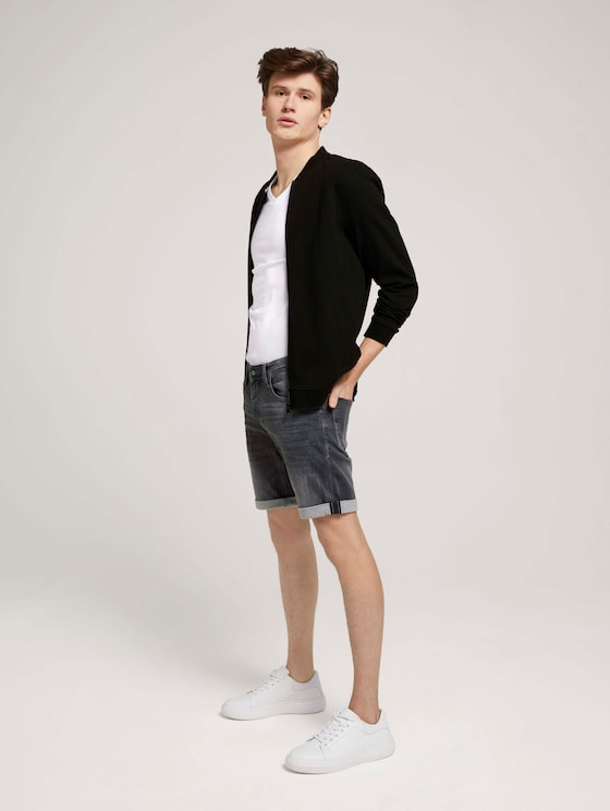 Regular Fit Jeansshorts - Männer - used mid stone grey denim - 3 - TOM TAILOR Denim