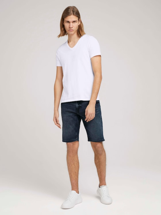 Regular Fit Jeans-Shorts - Männer - mid stone blue black denim - 3 - TOM TAILOR Denim