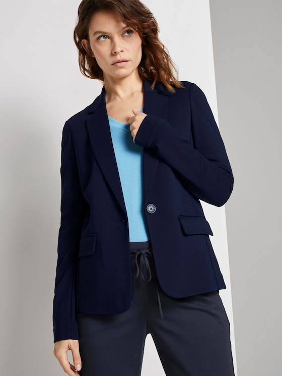 Jersey Blazer - Frauen - Sky Captain Blue - 5 - TOM TAILOR