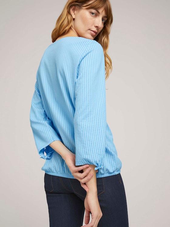 Gestreiftes Shirt mit Bio-Baumwolle  - Frauen - blue white thin stripe - 5 - TOM TAILOR