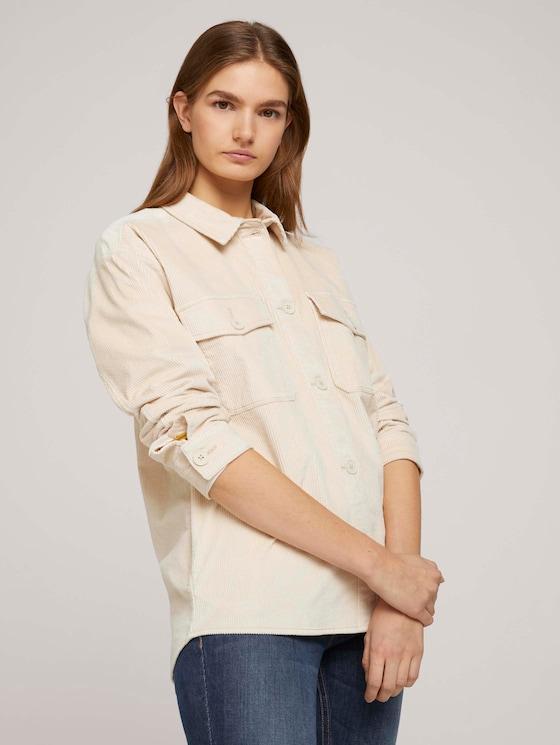 Hemdjacke mit Bio-Baumwolle - Frauen - blazed beige - 5 - TOM TAILOR Denim