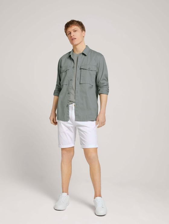 Chino Slim Short - Mannen - white-trousers - 3 - TOM TAILOR Denim
