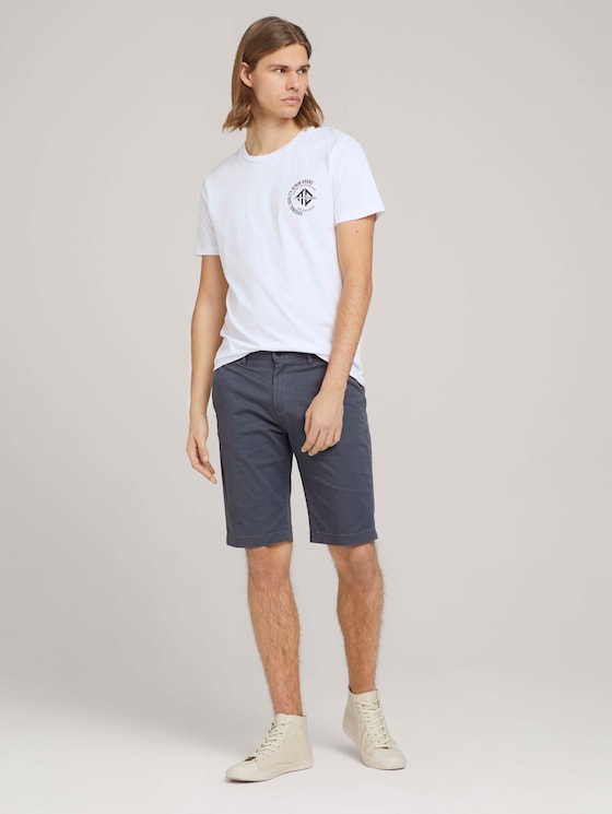 Chino Slim Shorts - Männer - urban medium grey - 3 - TOM TAILOR Denim