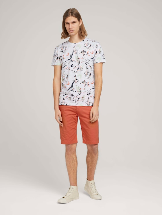 Chino Slim Shorts - Männer - orange lobster - 3 - TOM TAILOR Denim