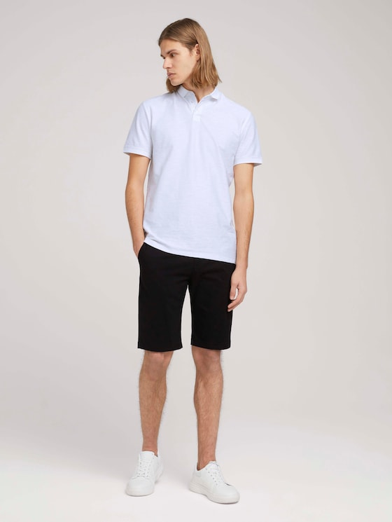 Chino Slim Shorts - Männer - Black - 3 - TOM TAILOR Denim