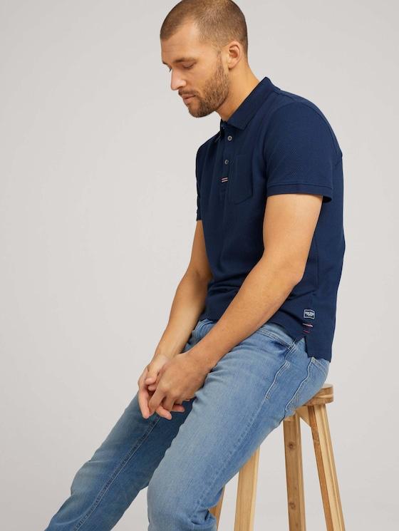 Strukturiertes Poloshirt - Männer - Dark Blue - 5 - TOM TAILOR