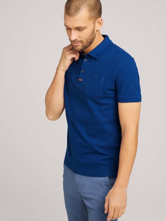 Strukturiertes Poloshirt - Männer - after dark blue - 5 - TOM TAILOR