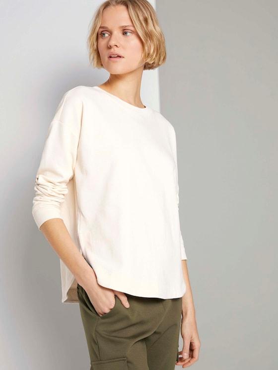 Loose Fit Sweatshirt - Frauen - soft creme beige - 5 - TOM TAILOR Denim