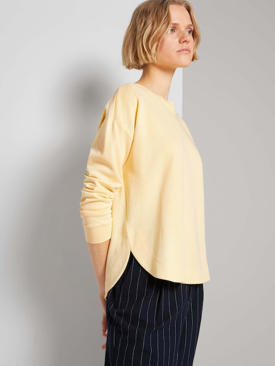 Loose Fit Sweatshirt - Frauen - soft yellow - 5 - TOM TAILOR Denim