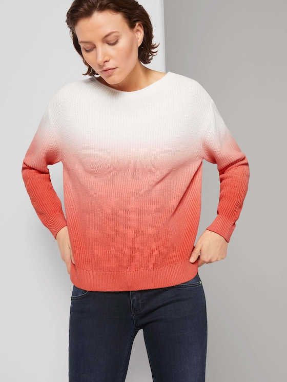 Pullover - Frauen - strong peach tone - 5 - TOM TAILOR