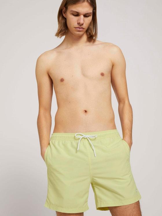 Basic Badeshorts - Männer - cream yellow - 5 - TOM TAILOR Denim