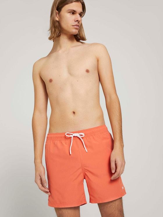 Basic Badeshorts - Männer - orange lobster - 5 - TOM TAILOR Denim