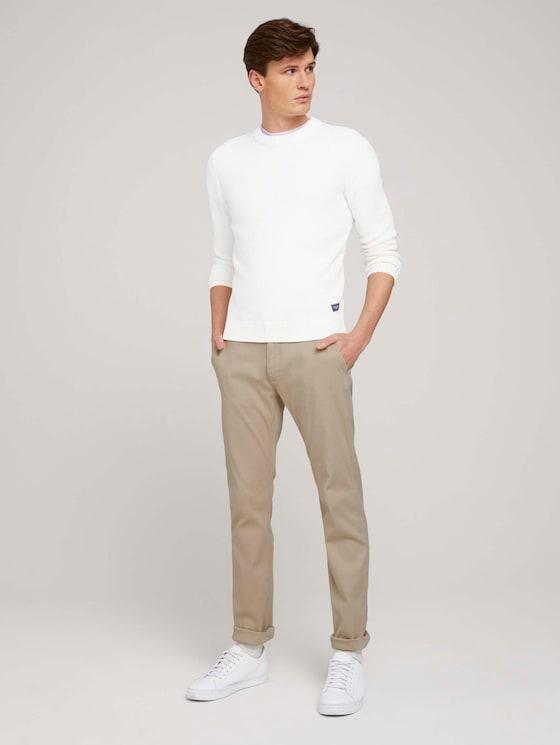 Regular Chino Hose mit Bio-Baumwolle  - Männer - sandy dust beige - 3 - TOM TAILOR